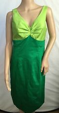 NEW $128 BODEN GREEN LIME COLORBLOCK DRESS SIZE US 8 *