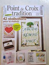 Magazine point de croix tradition  42 réalisations pour la maison  N°10 /T37