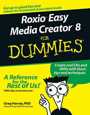 NEW Roxio Easy Media Creator 8 For Dummies by Greg Harvey