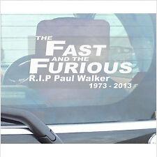 Paul Walker Tribute Sticker-RIP Memorial-Car,Van,Truck,Vehicle Adhesive Sign-D2