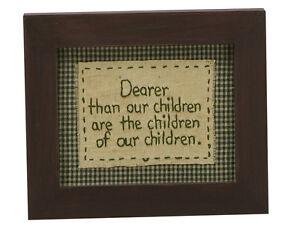 Stitcheries by Kathy Sign - Dearer Than Our Children - Grandparents - 19x16cm