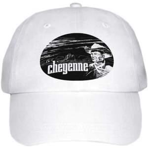 """CHEYENNE BASEBALL HAT. """"CLINT WALKER"""", EGG LOGO. WHITE"""