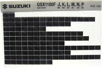 Suzuki GSX1100 GSX1100F Katana 1988 1989 1990 1991 1992 93 Parts Microfiche s446