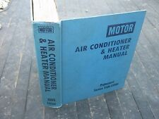 1985 Edition Motor Air Conditioner & Heater Manual book