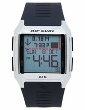 New Rip Curl Men's Rifles SS Tide Quartz Stainless Steel Black A1120
