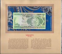 Most Treasured Banknotes Vanuatu 1982 100 Vatu P-1a UNC Prefix BB