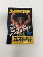 Vintage WWF SUMMER SLAM Wrestling Pinback Button Pin Pay Per View Advertising