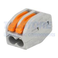 2 pcs 222-412 Morsetto connettore rapido per installazioni 222 PIN 2 32A WAGO