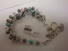Viva Beads Crystal Cluster Bracelet Handmade Clay Jewelry White Sand NWT