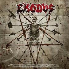 "Exodus 'Exhibit B: The Human Condition' 2x12"" Clear / White Splatter Vinyl - NEW"