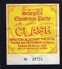 1984 The Clash concert ticket stub Brixton Academy London Calling Combat Rock
