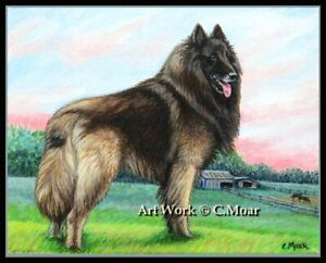 Belgian Shepherd Tervuren The Guardian Ltd Edition Art Print Berger Belge