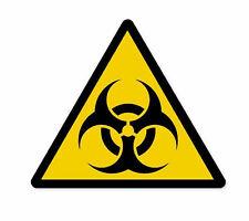 Biohazard Danger Warning Sticker Vinyl Decal 4-1306