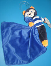 Carters BLUE ORANGE FOX BABY BOY DOLL Snuggle Buddy Security Blanket LOVEY NEW