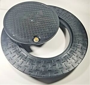 "Lot/5 Polymer Water Meter Box Ring w/locking mixed lids for 18"" Meter Pit"