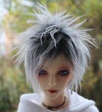 Dollfie BJD SD wig Perücke Fur size 8-9 black/white, selfmade!!!