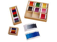 Montessori,  Farbtäfelchen Komplettset Kästen 1,2,3, MS15