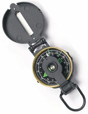 Metal Lensatic Compass - Black Metal Case - With Maginying Glass
