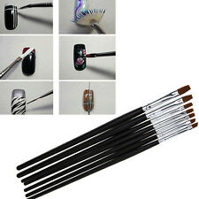 7 Set Gel Acrylic Polish Nail Art Brushes For Tips Drawing Dotting Design New