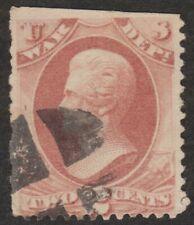 Scott #O115, US Postage, War Dept., 2 ct, Jackson, 1879, Rose Red, Used