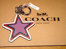 COACH Star Bag Charm MSRP $80 F59862 SILVER/BRIGHT RED Multi-Color BRAND NEW