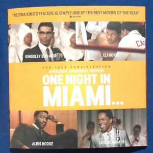 ONE NIGHT IN MIAMI PressBook 24 Pages Regina King, Odom, Hodge, Ben-Adir - NEW