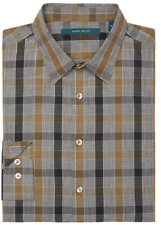 Perry Ellis Men's Stretch Heathered Plaid Shirt , Size L, MSRP $79
