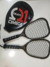 (2) Vintage Racquetball Racquet Omega Galaxy Ii, Very Nice Conditon
