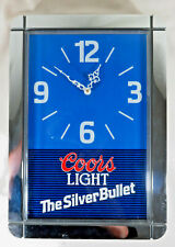 1989 Coors Light Chrome Silver Bullet Clock Authentic Bar Man Cave Tavern