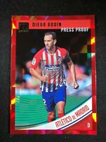 2018-19 Panini Donruss Soccer Diego Godin Atletico Madrid #49 Red Press Proof