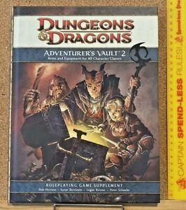 ADVENTURER'S VAULT 2 ADVANCED DUNGEONS & DRAGONS 2009 HARDCOVER SOURCEBOOK EXC!