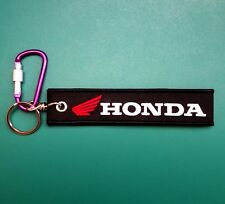 HONDA Keychain Embroidered Fabric Keyring Holder Tag Bike Car New Free Shipping