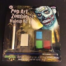 Zombie Makeup Kit Pop Art Makeup with Pencil and Sponge Fun World Halloween