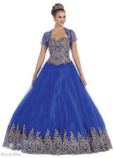 NEW SWEET 16 PAGEANT DESIGNER BALL GOWNS QUINCEANERA PROM QUEEN MASQUERADE DRESS