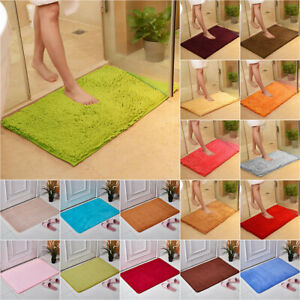 Bathroom Shower Mat Rugs Non Slip Soft Flufffy Shaggy Floor Carpet Home Decor US
