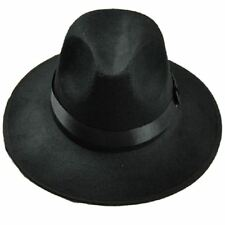Unisex Classic Blower Jazz Hat Black Fedora Trilby Hat H7Y9 H7Y9