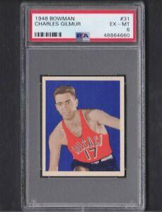 1948 Bowman #31 Charles Gilmur Stags Ex-Mt PSA 6