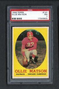 1958 Topps #127 OLLIE MATSON HOF Chicago CARDINALS PSA 7 NM
