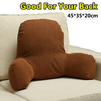 Plush Cotton Back Rest Bed Pillow Support Cushion Reading Lounger Arm Chair