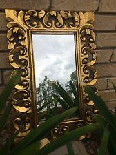 BALINESE - Bali Mirror - timber mirror - gold circles design