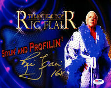 "RIC FLAIR AUTHENTIC AUTOGRAPHED SIGNED 8X10 PHOTO WWE ""16X"" PSA/DNA 86906"