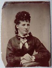 FERROTYPE photo jeune femme 8x6 cm V929