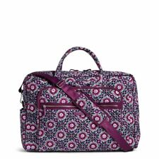 New Vera Bradley Iconic Grand Weekender Travel Bag Tote Lilac Medallion