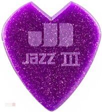 6 x Jim Dunlop Kirk Hammett Signature Jazz III Purple Sparkle Guitar Picks