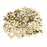 100   St ü  Gemischt   Nat ü rlichen   Schnitt   Holz   Blume   Formen