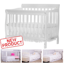 4 in 1 Baby Crib Bed Convertible Nursery Portable Toddler Furniture No Mattress