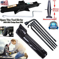Spare Tire Tools Kit Scissor Jack w/ Lug Wrench For Dodge Ram 1500 2002-15 Truck