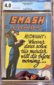 SMASH COMICS #42 (Quality; April 1943) SPIRIT/LADY LUCK; CGC 4.0