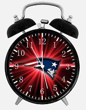 """New England Patriots Alarm Desk Clock 3.75"""" Room Decor E98 Nice Gifts A+ Quality"""