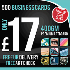 Printing graphic essentials ebay free postage 303 sold 500 business cards full colour matt laminated double sided reheart Image collections